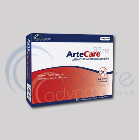 Antimalarial injections packaging