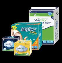 StayDry™ INCONTINENCE & UROLOGY RANGE