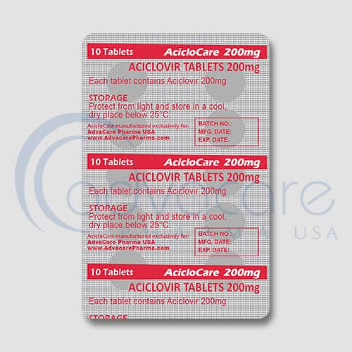 Aciclovir Tablets Blister