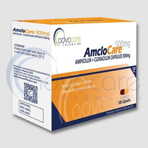Gélules d'ampicilline cloxacilline