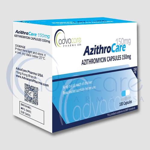 Gélules d'azithromycine