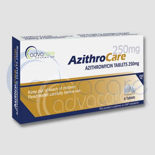 AdvaCare Pharma Azithromycin 6 Tablets box