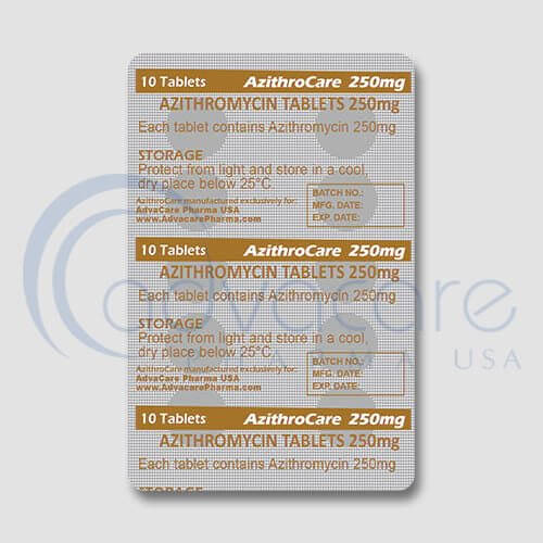 AdvaCare Pharma Azithromycin tablet blister