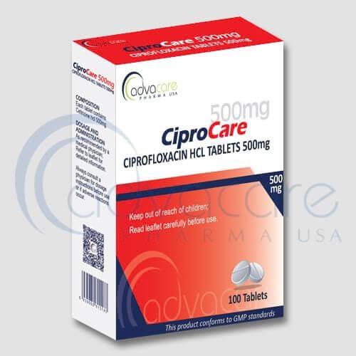 Comprimés de ciprofloxacine HCL