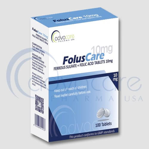 Ferrous Sulfate Folic Acid Tablets
