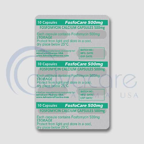 Fosfomycin Calcium Capsules Blister