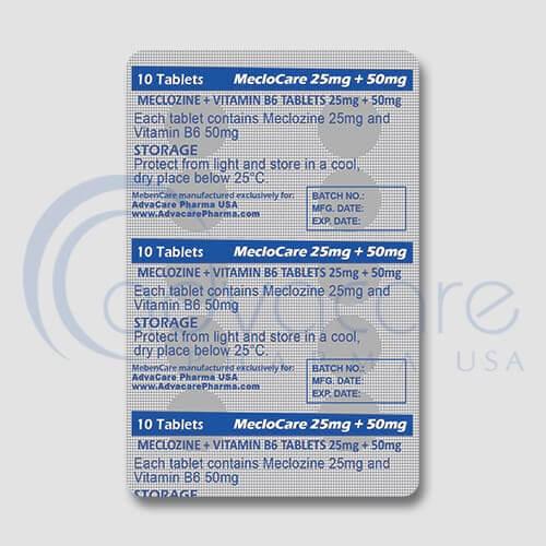 Meclozine (Meclizine) + Vitamin B6 Tablets Manufacturer 3