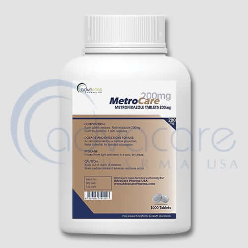 Bottle of Metronidazole Tablets 200mg
