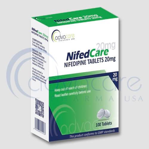 Tabletas de Nifedipina