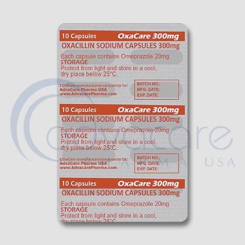 Oxacillin Sodium Capsules Blister