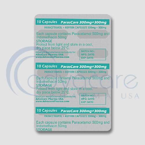 Paracetamol + Aspirin Capsules Blister