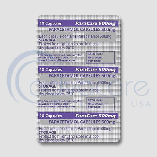 Paracetamol Capsules Blister