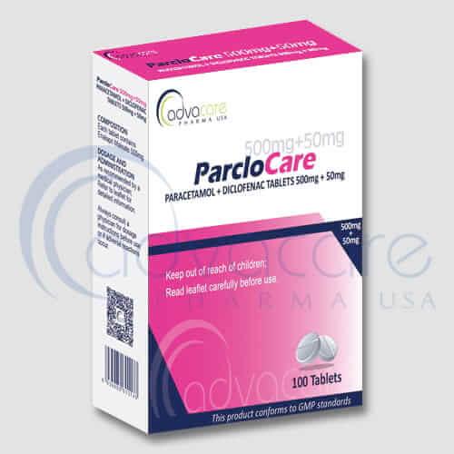 Tabletas de Paracetamol + Diclofenaco
