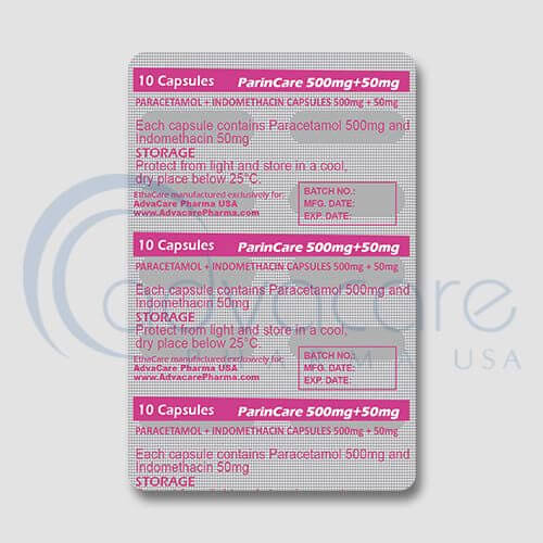 Paracetamol + Indomethacin Capsules Manufacturer 2