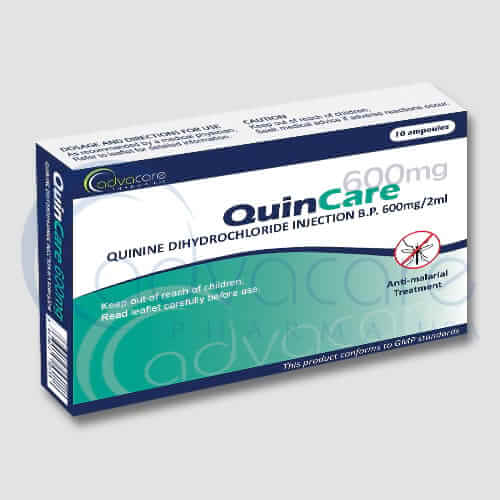 Injections de quinine chlorhydrate