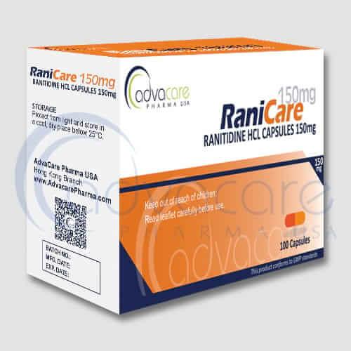 Gélules de ranitidine HCL