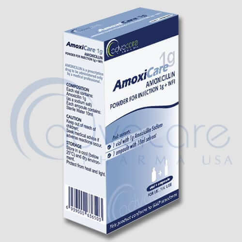 Amoxicillin Sodium Powder for Injections + Water for Injections Manufacturer 1