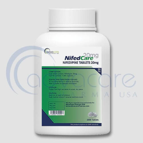 Bottle of Nifedipine Tablets
