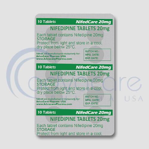 Nifedipine Tablets Blister