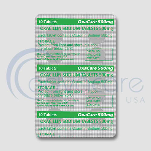 Oxacillin Sodium Tablets Blister