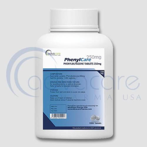 Bottle of Phenylbutazone Tablets 250mg