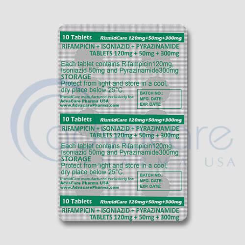 Rifampin + Isoniazid + Pyrazinamide Tablets Manufacturer 3