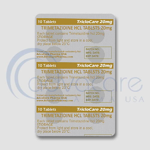 Trimetazidine HCL Tablets Blister