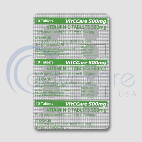 Vitamin C Tablets Blister