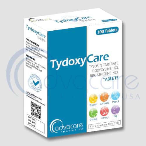 Comprimés de tartrate de tylosine + doxycycline + chlorhydrate de bromhexine
