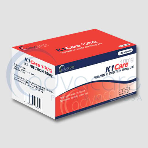 AdvaCare Pharma Vitamin K1 Injections (100 Ampoules)