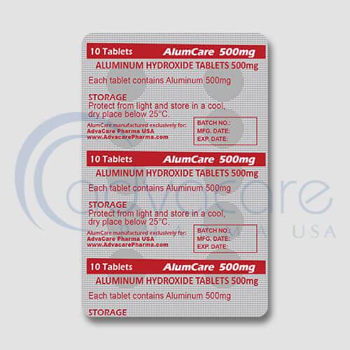 Aluminium Hydroxide Tablets Blister