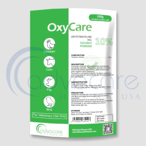 Oxytetracycline Hydrochloride Soluble Powders Manufacturer 1