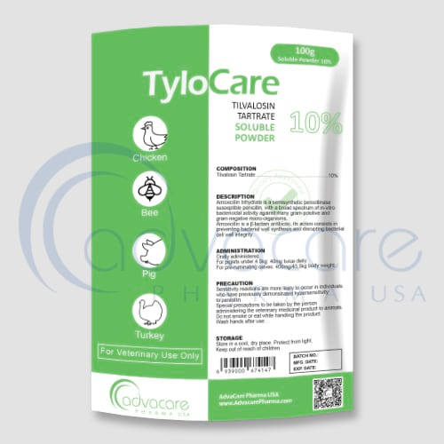 Tylosin Tartrate Soluble Powders Manufacturer 1