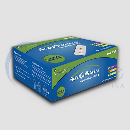 a box of advacare pharma usa AccuQuik Creatine Kinase test kits