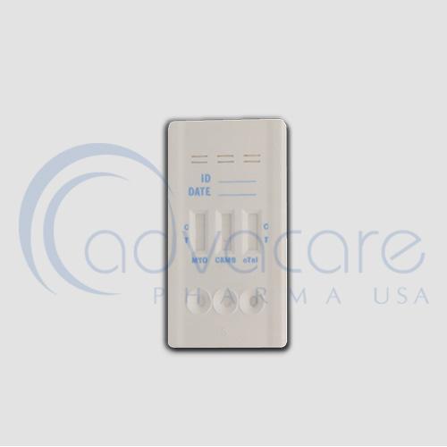 a cassette multi panel of advacare pharma AccuQuik Cardiac Multi-3 Panel Test
