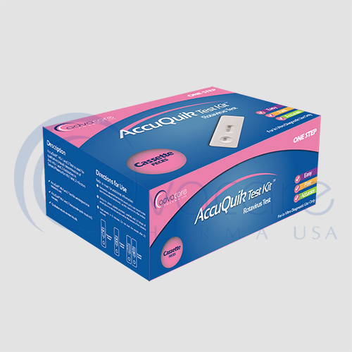 a box of advacare pharma usa AccuQuik Rotavirus Kit