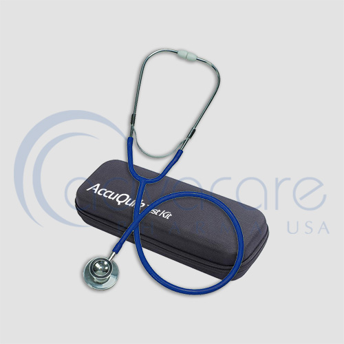 a stethoscope with portable bag from Accuquik Test Kit