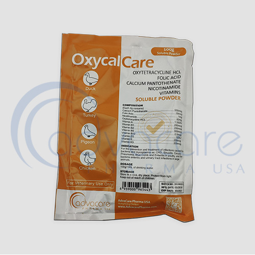 Oxytetracycline HCL + Folic Acid + Calcium Pantothenate + Multivitamin Soluble Powder
