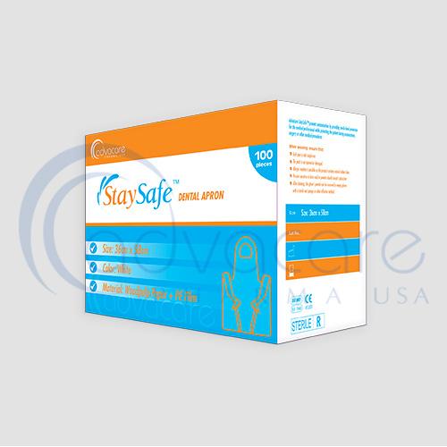 a box of advacare pharma usa StaySafe Medical Clothing Dental Apron