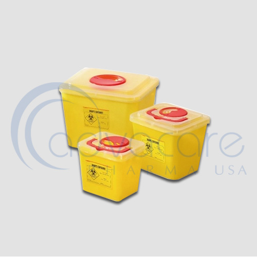three StaySafe Medical Clothing Waste Containers
