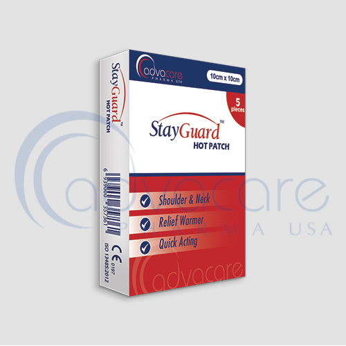 an advacare pharma usa StayGuard Skin and Wound Care Hot Patch Box