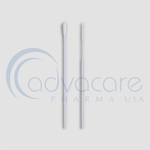 a closeup of specimen collection swabs for nose and mouth route from AdvaCare Pharma USA AccuQuik™ CPR Virus Transportation System