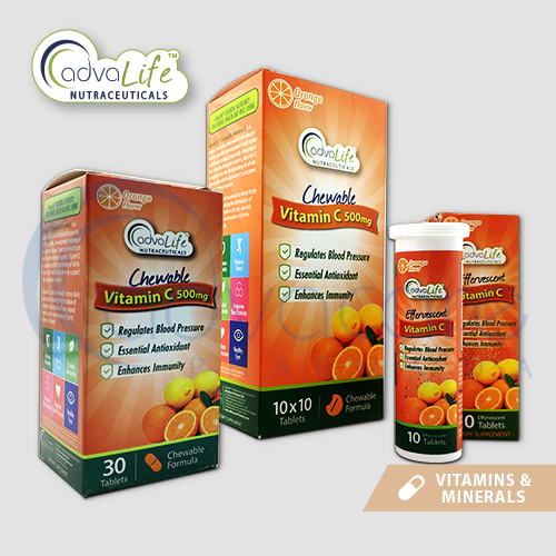 chewable and effervescent tablets from AdvaCare Pharma USA AdvaLife Vitamin C