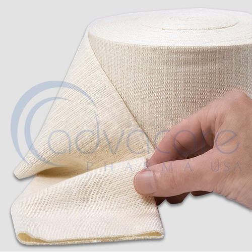 A close up of a roll of advacare pharma usa StayGuard Skin and Wound Care Compression Bandage