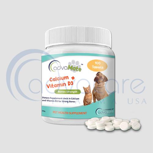 advacare pharma advamate Calcium + Vitamin d3 pet supplement