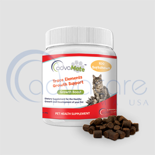 advacare pharma advamate Trace Elements Growth Support pet supplement