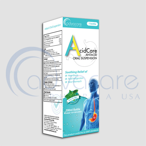a box of advacare pharma anta-acid syrup
