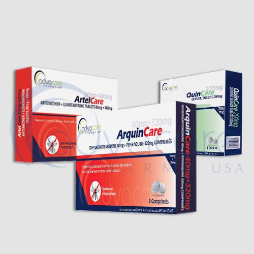 Antimalarial tablets packaging